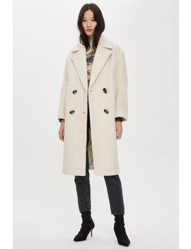 Tall Boucle Coat by Topshop