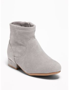 Faux Suede Stretch Sock Boots For Toddler Girls by Old Navy