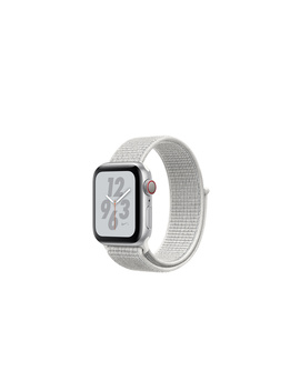 AppleWatch Nike+ Series4 Gps+Cellular, 40mm Silver Aluminum Case With Summit White Nike Sport Loop by Apple