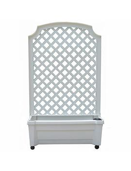 Exaco 1.416 W Calypso Planter With Trellis And Self Watering System by Exaco Trading Company