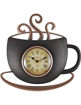 Firs Time® Latte Cup Wall Clock In Bronze by Bed Bath And Beyond