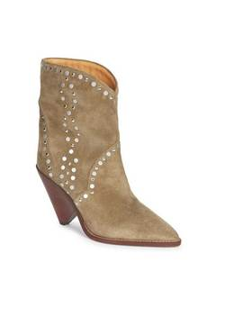Kyroa Studded Suede Ankle Boots by Jessica Buurman