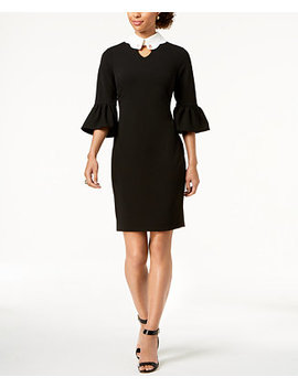 Bell Sleeve Collared Dress by Ivanka Trump