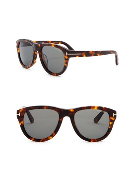 Benedict 53mm Rounded Sunglasses by Tom Ford