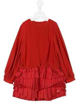 Pleated Panel Dress by Givenchy Kids