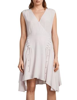 Miller Lace Up Dress by Allsaints