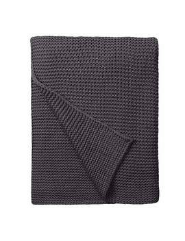 Chunky Breckon Charcoal Throw by Dunelm