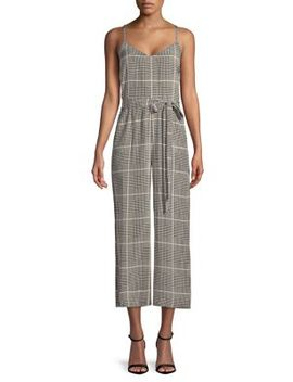 Jaelyn Silk Herringbone Jumpsuit by L'agence