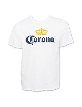Corona Extra Men's White Beer Logo T Shirt by Corona Extra