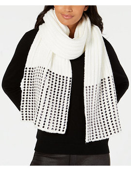 Studded Ribbed Oversized Scarf, Created For Macy's by Dkny