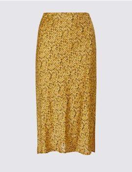 Animal Print Slip Midi Skirt by Marks & Spencer