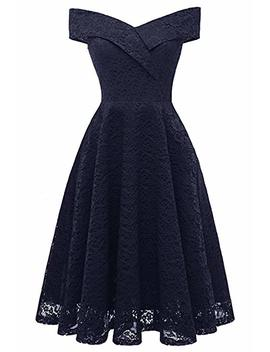 Misshow Elegant Celebrations Youth Dedication Dress Cocktail Lace Party Carmen Dress Knee Length Evening Dress by Amazon