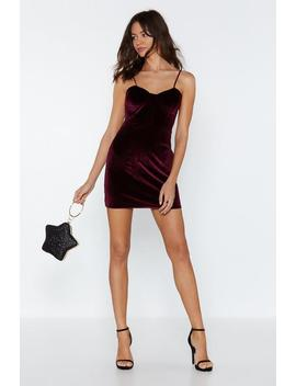 Velvet Bustier Mini Dress by Nasty Gal