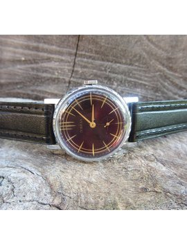 Russian Watch Pobeda,Vintage Men's Watch,Retro Watch,Wristwatch,Mechanical Wrist Watch,Working Watch,Old Watch,Ussr,Soviet Watch by Etsy