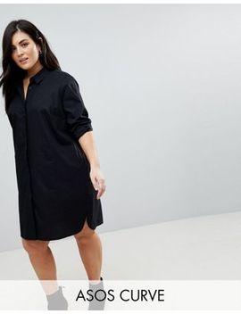 Asos Design Curve – Mini Hemdkleid Aus Baumwolle by Asos Design