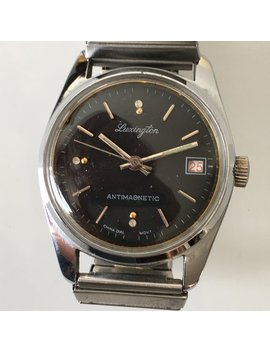 Mechanical Vintage Luxington Mens Date Watch by Etsy