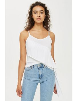 Satin Panel Cami Top by Topshop
