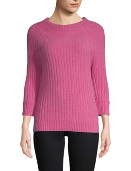 Classic Three Quarter Sleeve Sweater by Cashmere Saks Fifth Avenue