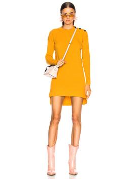 Cashmere Rib Sweater Dress by Fendi