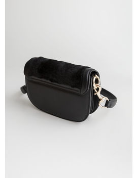 Faux Fur Mini Saddle Bag by & Other Stories