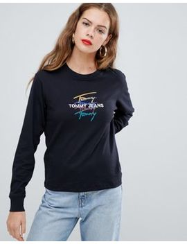 Tommy Jeans Logo Long Sleeve T Shirt by Tommy Jeans Capsule
