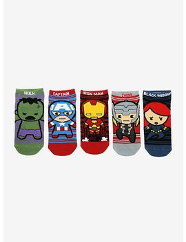 Marvel The Avengers Chibi No Show Socks 5 Pair by Hot Topic