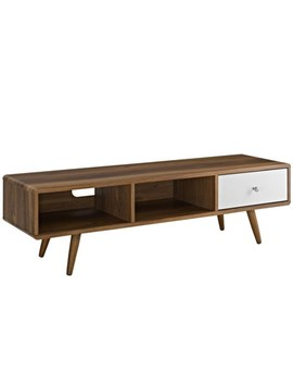 "Transmit 55"" Tv Stand Walnut White   Modway by Modway"