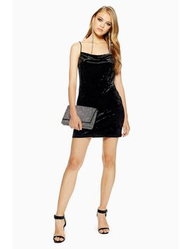 Cowl Velvet Slip Dress by Topshop