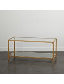 Tempered Glass And Metal Tv Stand Gold   Project 101 by Project 101