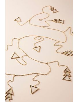 Golden Geo Garland by Anthropologie