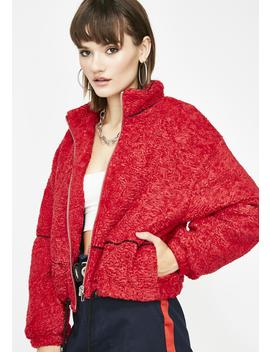 Cherry Doin' Too Much Teddy Jacket by Better Be