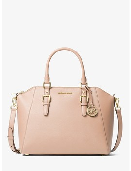 Ciara Large Saffiano Leather Satchel by Michael Michael Kors