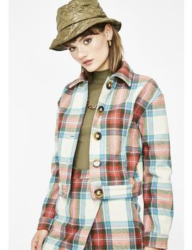 Rumor Has It Plaid Jacket by Etophe Studios