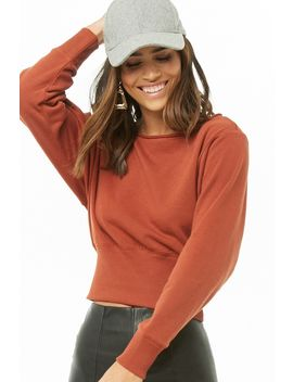 Fleece Knit Raw Cut Top by Forever 21