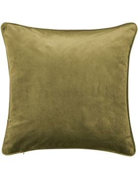 Hotel   Olive Polyester Velvet 'escala' Cushion by Hotel