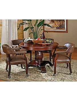 Steve Silver Co. Tournament 5 Piece Game Table Set by Bed Bath And Beyond