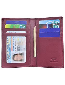 Slim Thin Id/Credit Card Holder Rfid Genuine Leather Bifold Front Pocket Wallet by Yuhan Pretty
