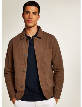 Selected Homme Brown Canvas Worker Jacket by Topman