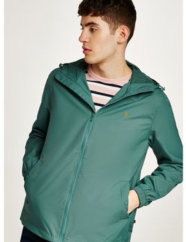 Farah Green 'smith' Zip Up Hooded Jacket by Topman