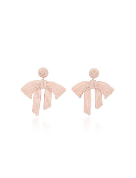 Drape Beaded Drop Earrings by Oscar De La Renta