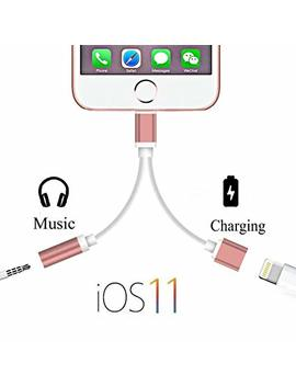 Evediva 2 In 1 3.5mm Aux Headphone Jack Audio And Charger Adapter Compatible Ip X 8 7 by Evediva