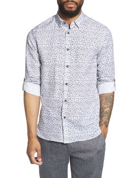 Nazta Trim Fit Tropical Print Sport Shirt by Ted Baker London