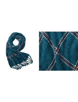Love And Lore Ticking Tattersall Scarf Deep Forest by Love & Lore