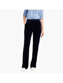 High Rise Flared Velvet Pant by J.Crew