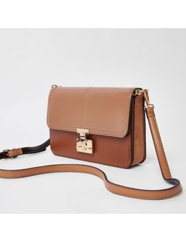 Light Brown Lock Front Underarm Bag by River Island