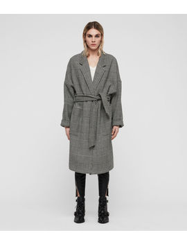 Lara Check Coat by Allsaints
