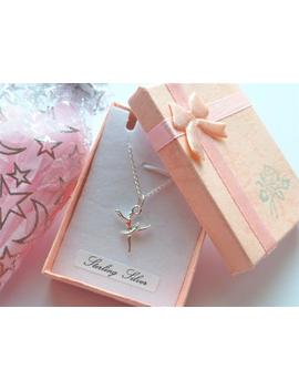 "Ballerina Necklace Sterling Silver Or Just Ballet Dancer Pendant 14in Baby Kids 16""Ins Children Teens Lady 18""Ins Adult Little Dancer Gift by Etsy"