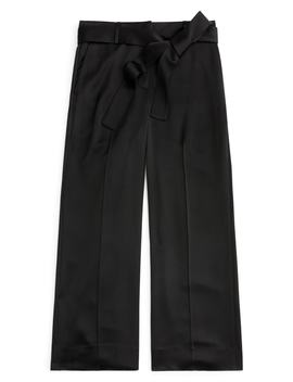 Full Length Wide Leg Pants In Satin Crepe by J.Crew