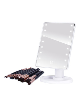 Led Professional Lighted Makeup Mirrors With Adjustable Led Light 16/22 Touch Screen Mirrors For Beauty Makeup Eyelash Brush by Ali Express