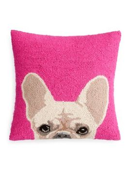 "Handicraft French Bulldog Decorative Pillow, 16"" X 16"" by Peking Handicraft"